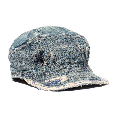 KAPITAL KOUNTRY 12oz Denim The Old Man And The Sea Cap (Crash Remake) IDG