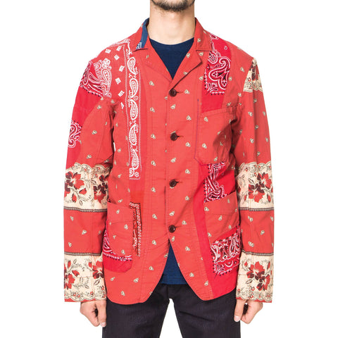KAPITAL KOUNTRY Rockwell Cloth French Work Jacket (Bandana Remake) Red