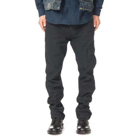 Kapital Light Canvas Ringoman Cargo Pants Black