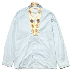 KAPITAL KOUNTRY Soft Hickoree x Quilt Remake Bonze Shirt