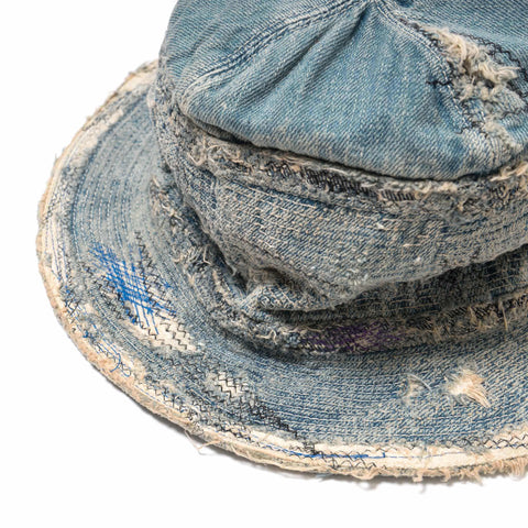 KAPITAL KOUNTRY Denim The Old Man And The Sea Hat (Crush Remake)