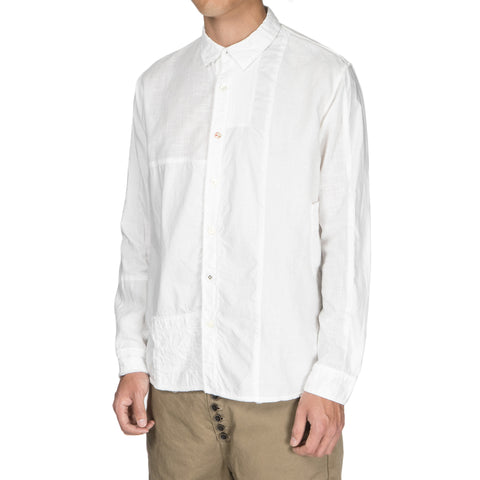 Kapital Cotton x Linen White Patch KATMANDU Shirt White