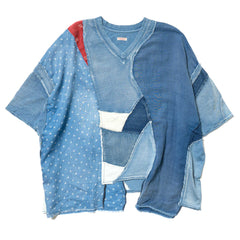 KAPITAL KOUNTRY Tenjiku Hippie Patchwork Remake Big T