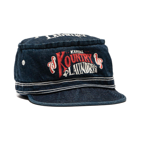 Kapital 11.5oz Denim Pork Pie Cap IDG