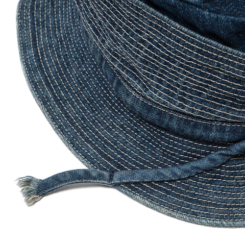 KAPITAL 12 oz Denim Monkey Philip Hat