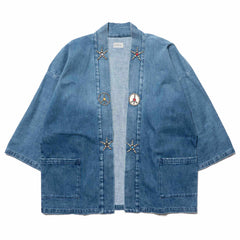 KAPITAL 12oz Denim HAPPI Cardigan (Studs Remake) Indigo