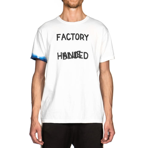 Kapital 20/-Jersey Crew T (Factory Blue Handed) White