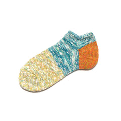 Kapital 56 Yarns Cotton Slub GOGH Grandrelle Ankle Socks Orange