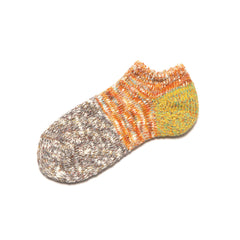 Kapital 56 Yarns Cotton Slub GOGH Grandrelle Ankle Socks Yellow