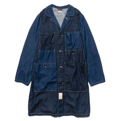 KAPITAL 8oz Denim 2 Tone Osechi Coat Indigo