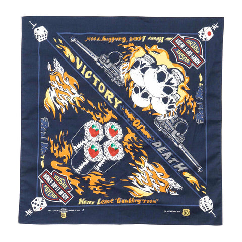 KAPITAL Color Bandana (Tekka Tuna Roll) Navy
