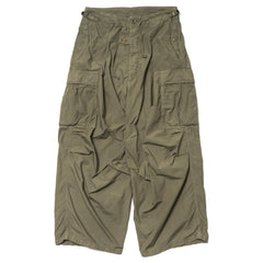 KAPITAL Cotton Typewriter Jumbo Cargo Pants Khaki