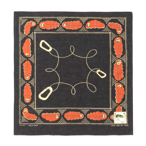 Kapital Fastcolor Selvedge Bandana (Sleep) Black