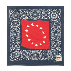 kapital Fastcolor Selvedge Bandana (Betsy Ross x Concho) Navy x Red