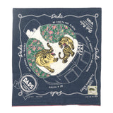Fastcolor Selvedge Bandana (Colorful Dad) Navy