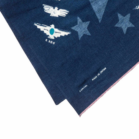 KAPITAL IDG Dye Selvedge Bandana (1Star Harvey Collection)