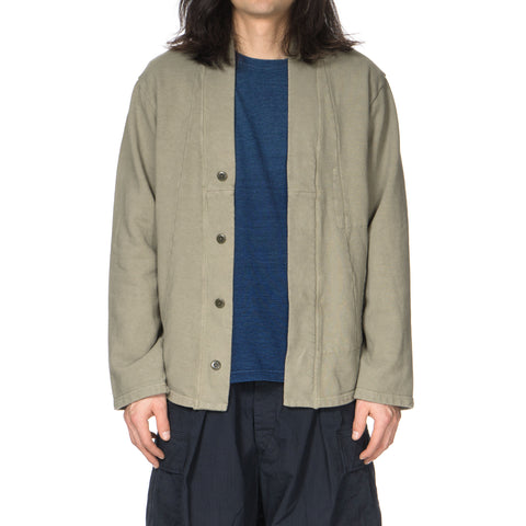 KAPITAL Fleecy Knit Bonze Hiyoku Cardigan Khaki