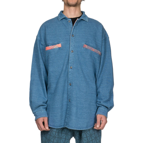 kapital IDG Fleecy Knit GRANDE Work Shirt