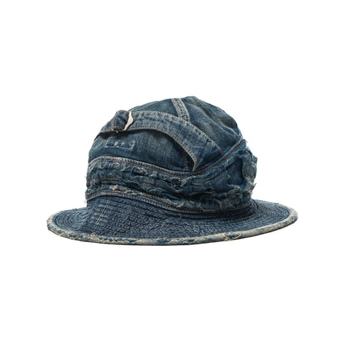 KAPITAL 12oz Denim The Old Man And The Sea Hat (Damaged)