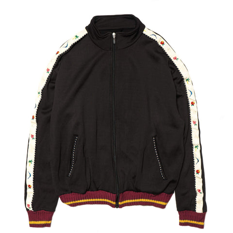 Kapital Rayon Fleecy Knit SKA Track Jacket Black
