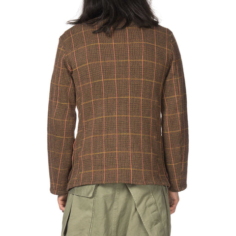 KAPITAL Tweed Fleecy Knit Kobe Jacket Light Brown
