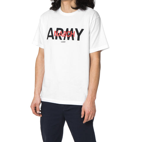 LUKER by NEIGHBORHOOD Army / C-Tee . SS White