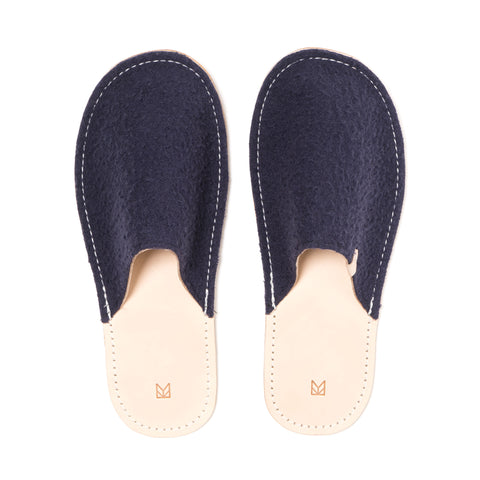MAPLE Caestino Wool Slippers Navy