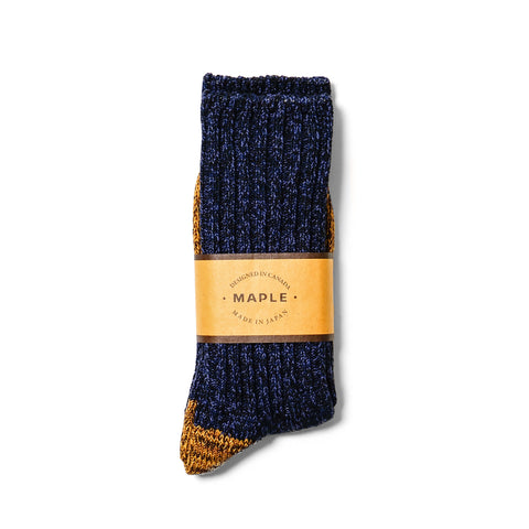 maple 2-Tone Melange Sock Navy