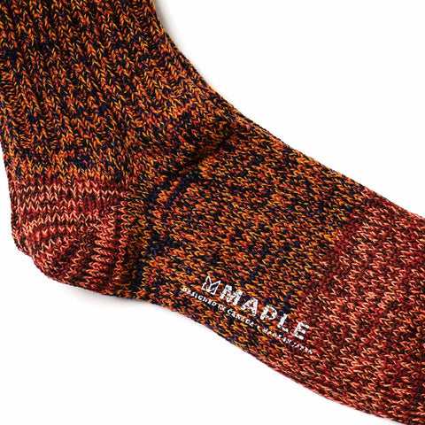 Maple 2-Tone Melange Sock Orange
