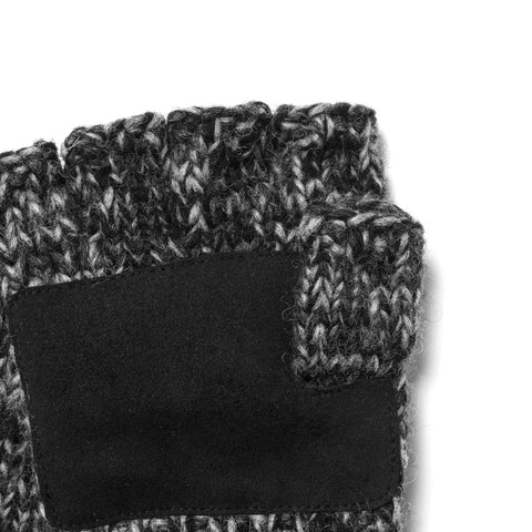 Maple Canada Knit Fingerless Gloves Charcoal