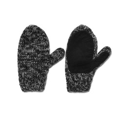 maple Canada Knit Mitten Charcoal