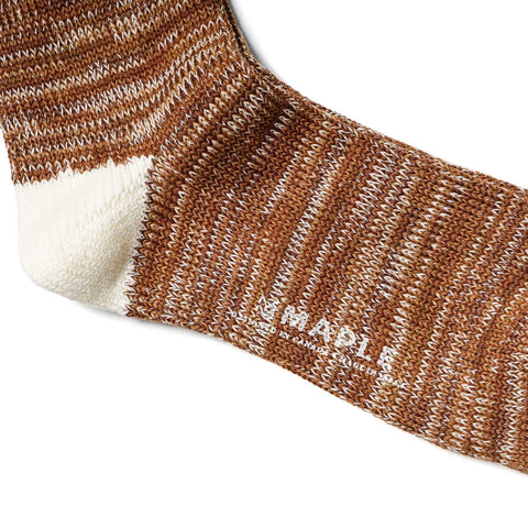 Maple Hikisoroe Melange Sock Brown