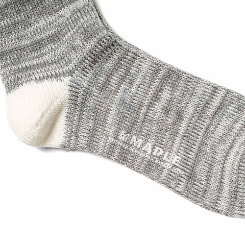 Maple Hikisoroe Melange Sock Gray