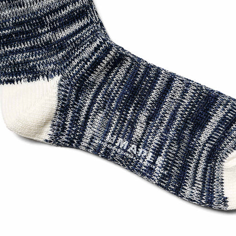 Maple Hikisoroe Melange Sock Navy