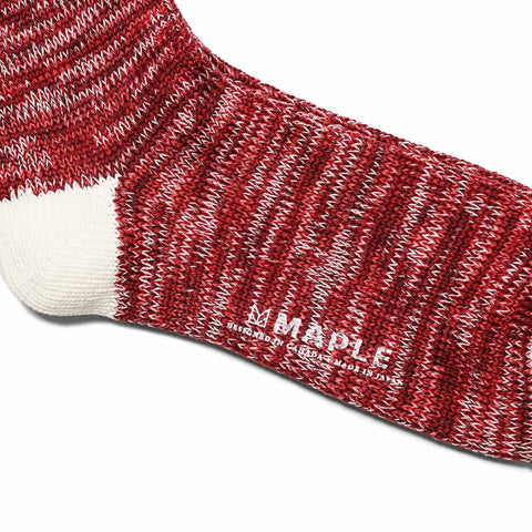 Maple Hikisoroe Melange Sock Red