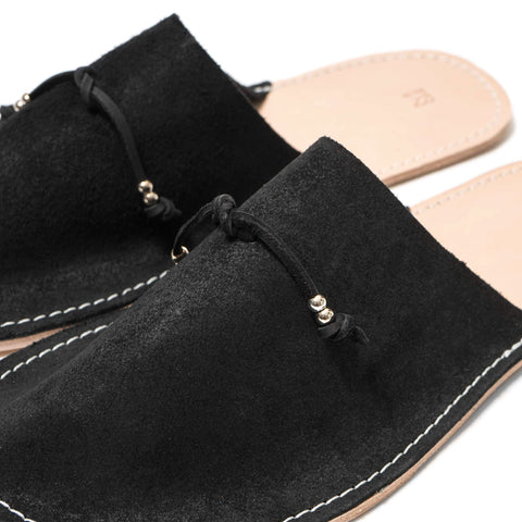Maple Home Slippers Suede Black