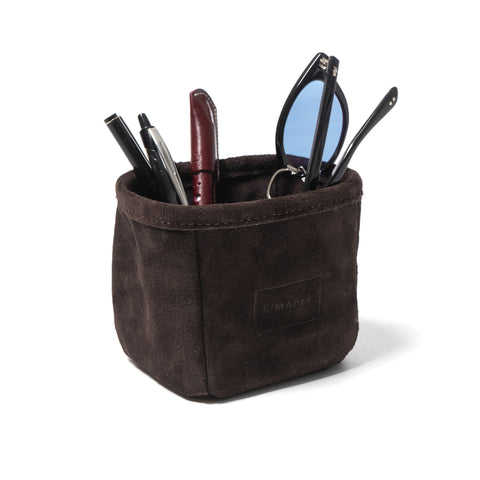 Maple Pen Holder (Suede) Brown