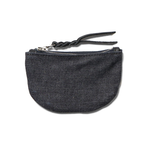 Maple Zip Pouch Denim Rigid Denim