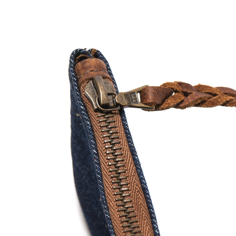 Maple Zip Pouch Denim Washed Denim