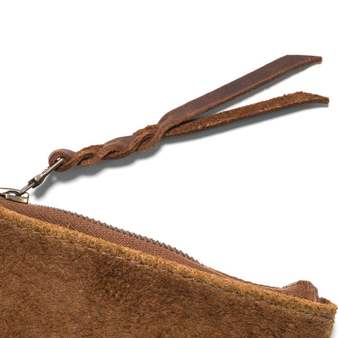 Maple Zip Pouch Suede Tan
