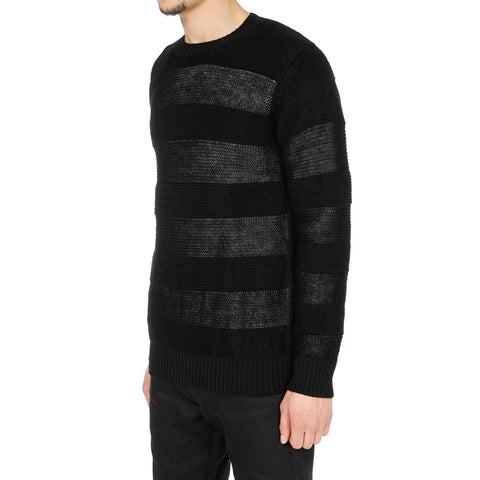 Junya Watanabe MAN Wool Mohair Garter Stitch x Jersey Border Sweater