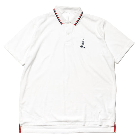 mountain research Big Animal Polo S/S White