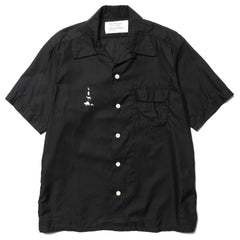 mountain research Open Collar Short Sleeve Black