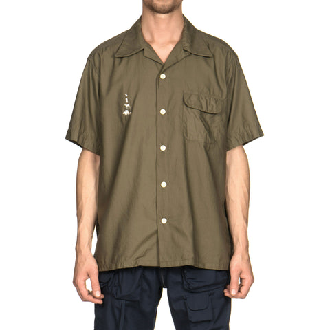 mountain research Open Collar Short Sleeve Khaki