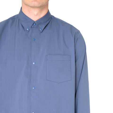 N.HOOLYWOOD Ribbed Botton Shirt Blue