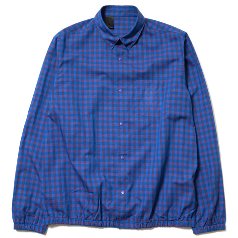 N.HOOLYWOOD Ribbed Botton Shirt Navy Check