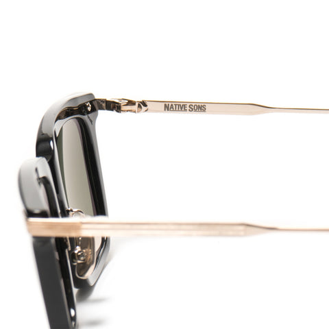 Native Sons Clark Sunglasses Black/16K Gold G-15