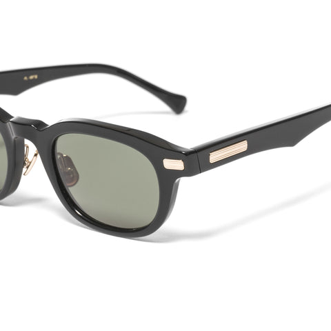 "Native Sons ""Clyde"" Sunglasses Black / White Gold"