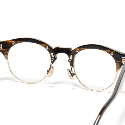 Native Sons Hitchcock Optical Gasoline/18K Gold/Clear