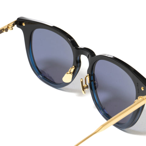 Native Sons Hughes Sunglasses, BLACK-BLUE/ 18K GOLD/ SOLID BLUE
